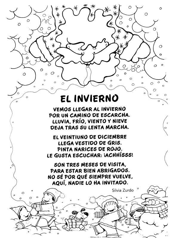 Resultado de imagen de poesia invierno infantil