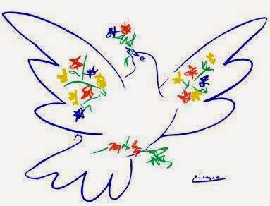 Resultado de imagen de paloma de la paz picasso